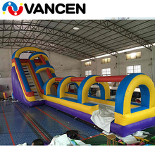 China factory price cheap amusement park adults playground customized 4x12m commercial inflatable water slide for sale