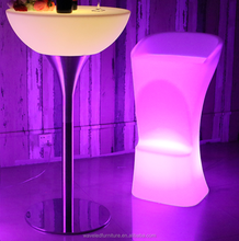 RGB LED Illuminated led bar furniture plastic bar table for party and event