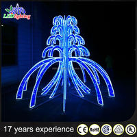 Christmas holiday new type decoration led light outdoor LED 3D fountain motif light 3d led light