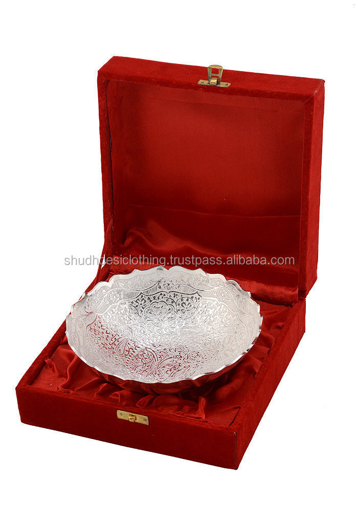 German Silver White Metal Bowl Set Dinnerware Sets Gift Sets