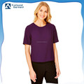 Exclusive short sleeve 100% polyester back zip tops for women
