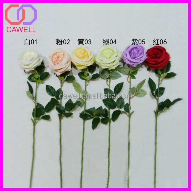 wholesale individual head ivory color chile artificial garden rose