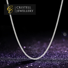Wholesale 925 sterling silver thin necklace chain with quality platinum plating