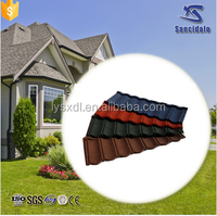 modern house of color coated corrugated plastic stoned coated roofing sheet prices