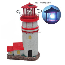 set of 3 popular decorative solar powered garden resin lighthouse statue