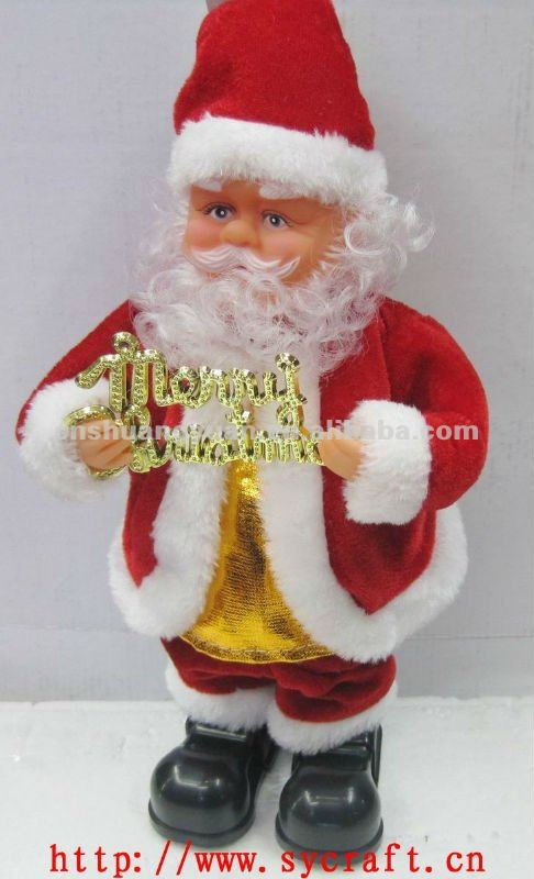moving father christmas/Battery operated xmas santa claus