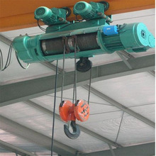 MD model dual speed electric wire rope hoist and monorail hoist with trolley low price