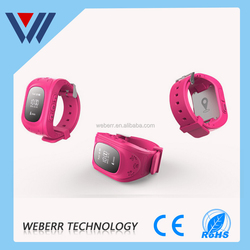SMS tracking smart watch mobile phone for the old and children