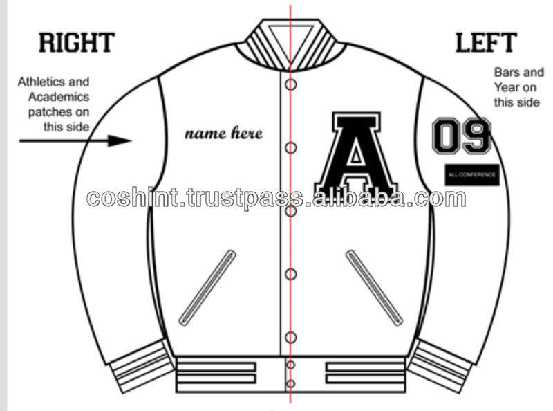 Embroidered Varsity jackets by charts