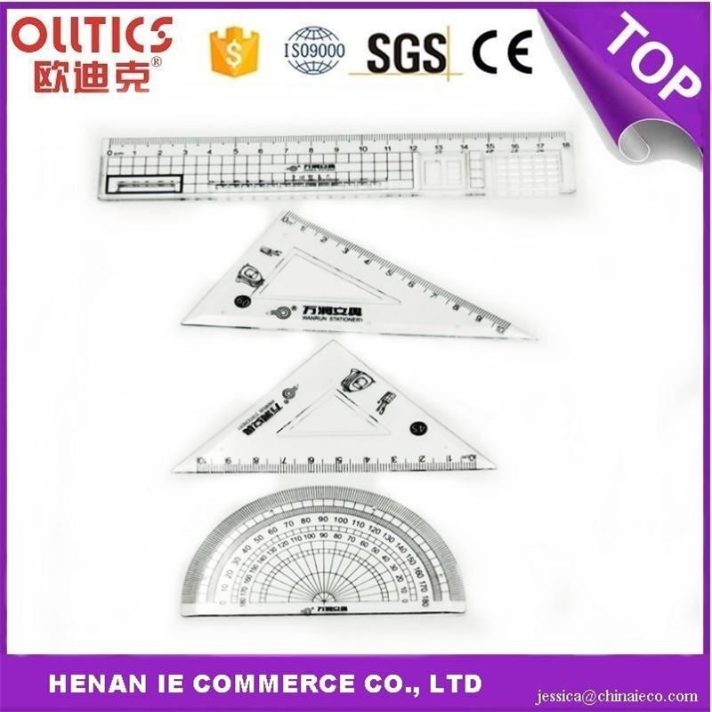 Plastic professional geometry sets made in China