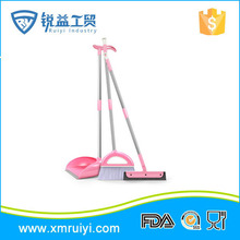 Top quality colorful home long handle cleaning plastic broom and dustpan