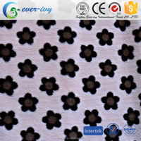 textile material 100% Polyester luxury microfiber plush fabric