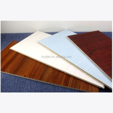 Eco-friendly laminado cubierta impermeable interior decorativo WPC revestimiento paneles de pared