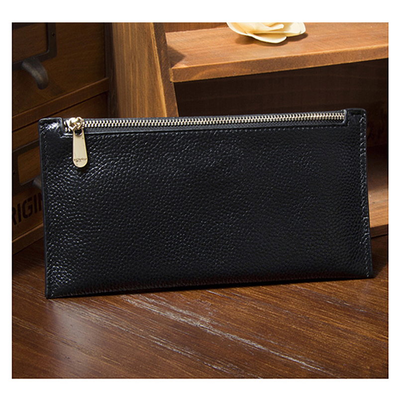 Manufacturer custom made long clutch leather wallet long wallet man