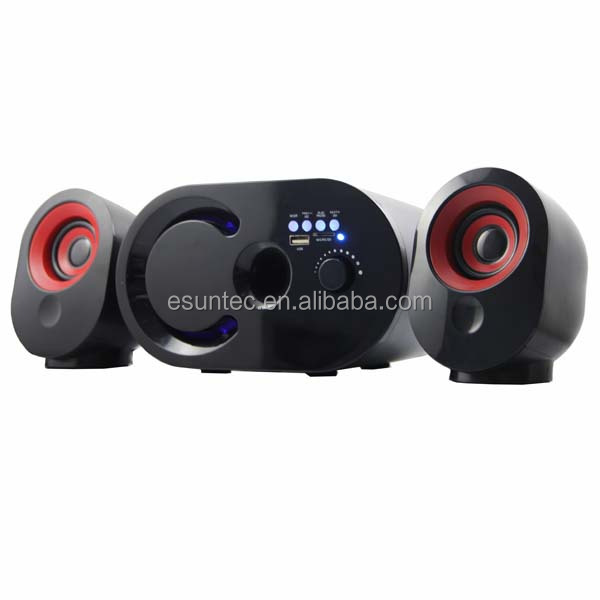 silicone speaker, home theater 2.1 speaker, 2.1 Computer speakers Match with computer, CD,Player ,ST-2070BK
