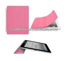 Crystal PC Hard Back PU Leather Smart Cover Case with Stand for iPad 5 iPad Air Smart Case