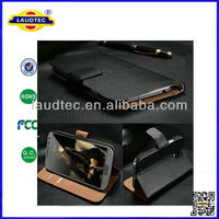 Luxury Genuine Real Wallet Leather Case for Samsung Galaxy S4 mini i9190 leather case cover accessories--Laudtec
