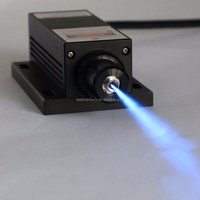 BL473T3H-100FC, Adjustable Power Supply ADR-700A, 100mW 473nm Blue DPSS Laser, with Fiber Coupler, CW, 3% Power Stability