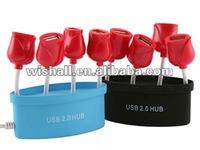 Rose Shape 2 port USB Mini Hub