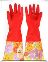 Home washing long latex gloves/household long gloves
