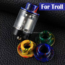 factory drip tip resin 510 wide bore the troll rta resin drip tip