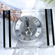 Company Souvenir Gifts Engraving Crystal Wall Desk Table Clock Office Clock