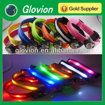 2014 Newest led flashing dog collar colorful led shiny pet collar glow led cat dog