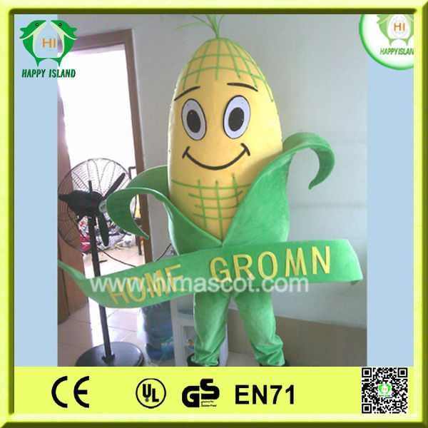 HI Vegetables costumes adult corn mascot