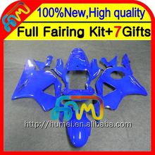 7gifts For HONDA CBR900RR ALL Glossy blue CBR954 RR 02 03 37CL36 CBR 954RR 02-03 ALL Blue CBR954RR 2002 2003 CBR 954 RR Fairing
