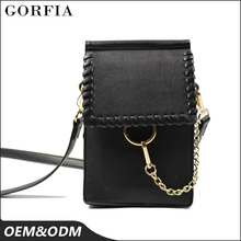 Fashionable ladies small handbags shoulder pu leather phone mini bag for young people