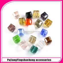 cubic acrylic beads Jewelry colored Square faceted acrylic beads