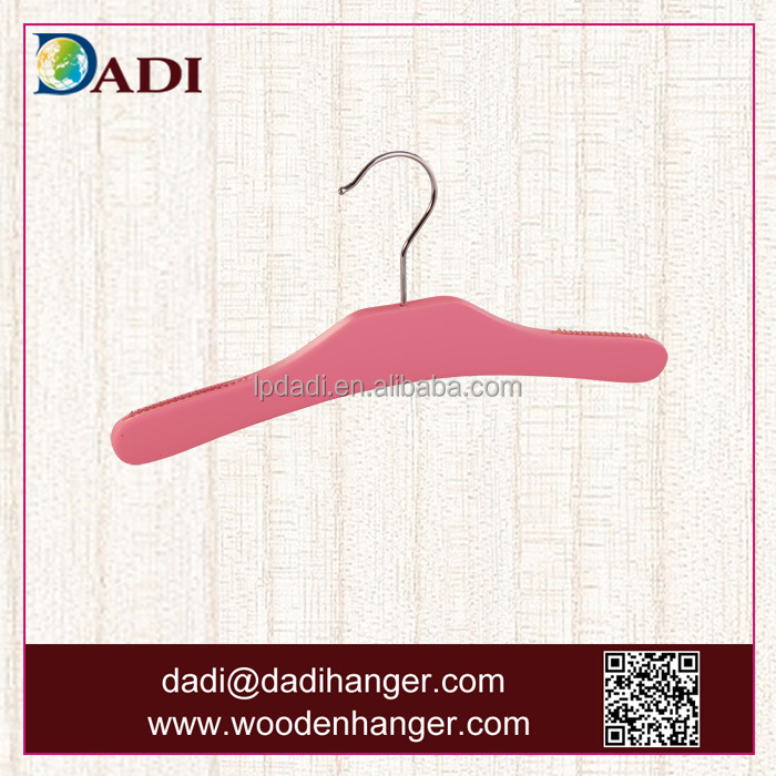 Manufacturer supply directly Pink Clothes wooden Hanger for kids