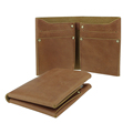 Genunine Leather Wallet Bifold Wallet Brown Crazy Horse Leather Wallet