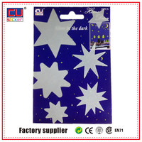 easy adhesive christmas baubles bedroom wall decorating glowing in the dark stickers