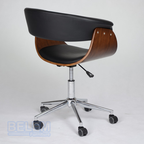 new Bent wood high quality office chair PU leather