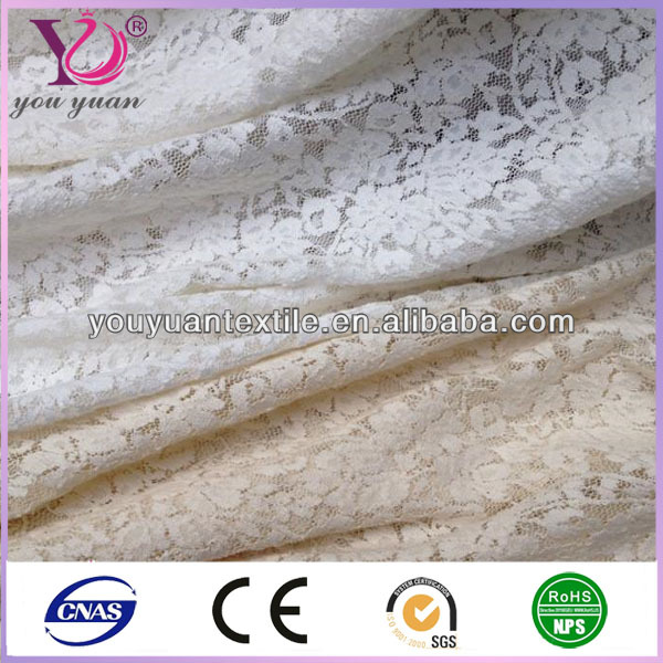 Hot selling floral guipure stretch lace fabric for dress