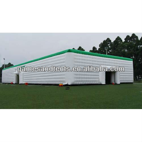 white and green house inflatable tents F4037