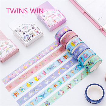 New School office supplies DIY beautiful design colorful self adhesive washi wrapping paper tape jumbo roll for decorative  377
