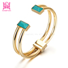 Customed Gold Jewellery Bangles Twisted Fashion