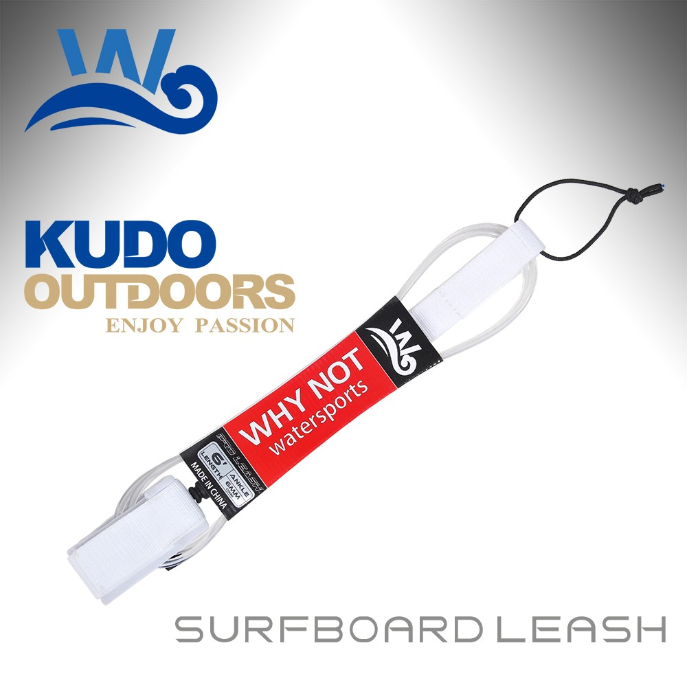Whynot wholesale custom surfboard leash chear 5' to12' surf leash cord