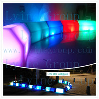 Led light plastomer curb stone molds colorful road side pavement