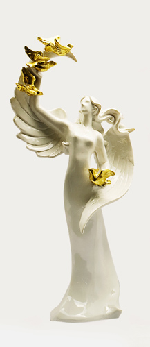 Wholesale White  Resin Angel Fairy Figurines for Home Decoration