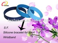 2013 hot sale silicon bracelet for promotional Best quality Silicone rubber band bracelet products SF-0907