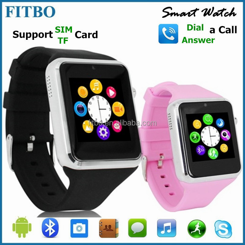 "Super Slim SIM GSM 1.54"" bluetooth speaker watch for Samsung Sony LG AUSU MOTO"