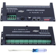 CHINLY DMX 512 RGB 30Channels LED Strip Light Controller Decoder for LED Lighting