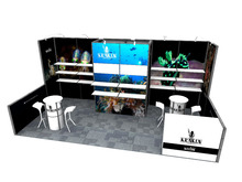 10x20 modulare trade show booth con grafica