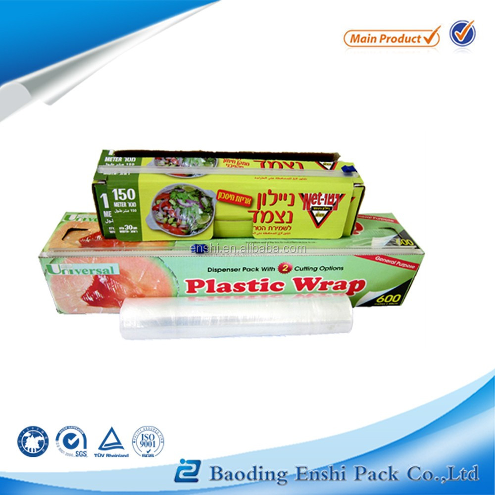 Online sale China made blue pe plastic stretch film with colored box