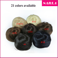 Wholesale wedding products fake chignon snap dome hair piece bun