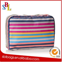 wholesale fashion promotional nylon contents travel cosmetic bag / make up bag