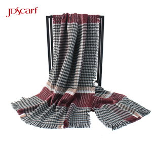 black and white grey gold best scarves blanket checked scarf